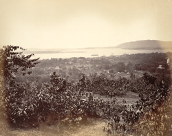 View of Moulmein from the Flagstaff.